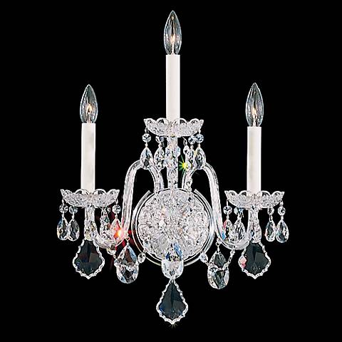 "Schonbek Olde World Collection 20"" High Crystal Wall Sconce"