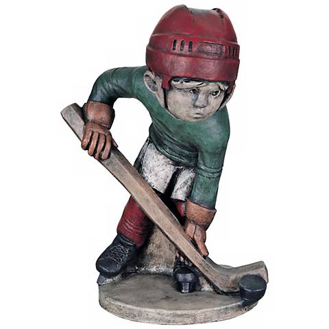 "Little Boy Hockey Player 19""H Yard Decor Garden Sculpture"