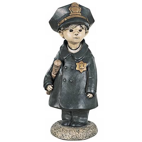 "Little Police Officer 18"" High Garden Accent"