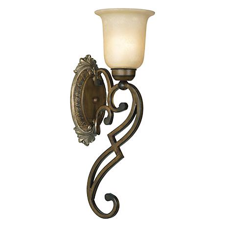 """Belcaro Collection Walnut Finish 20 1/2"""" High Wall Sconce"""
