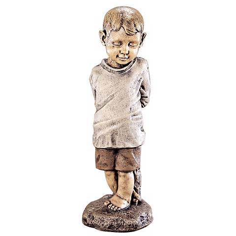 "Bashful Boy 24"" High Garden Accent"