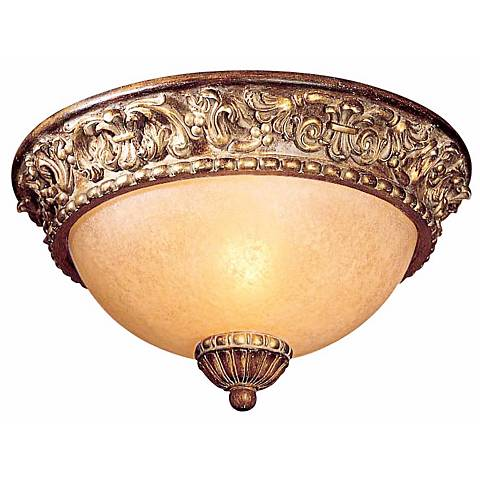 "Belcaro Walnut 11 1/2"" Wide Champagne Glass Ceiling Light"