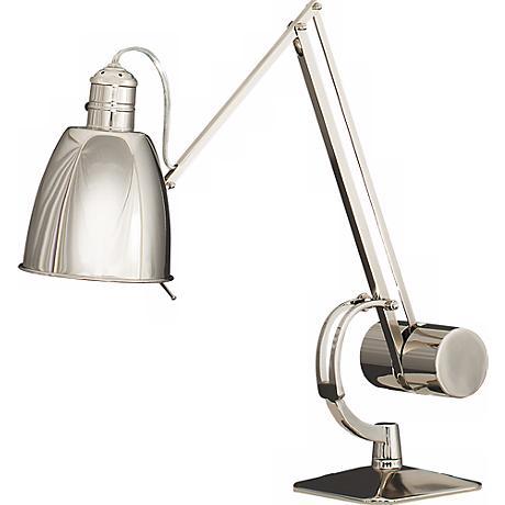 Robert Abbey JoJo Nickel Finish Adjustable Desk Lamp