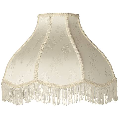 Cream Scallop Dome Lamp Shade 6x17x12x11 Spider 28195