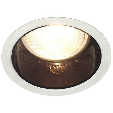 "Lightolier 5"" Line Voltage Black Alzak Recessed Light Trim"