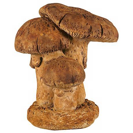 "Henri Studio Large Triple Mushroom 17"" High Garden Accent"