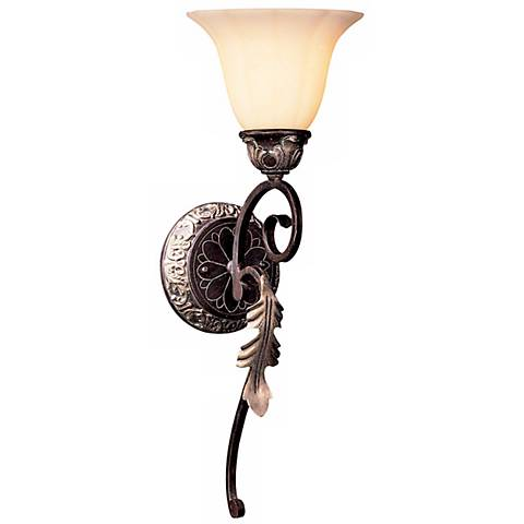 """Bellasera Collection 20 1/2""""H Castlewood Walnut Wall Sconce"""