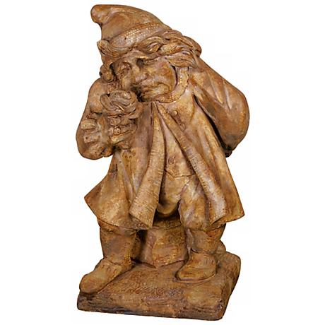 "Henri Studio Gnome of Pity Cast Stone 24"" High Garden Accent"