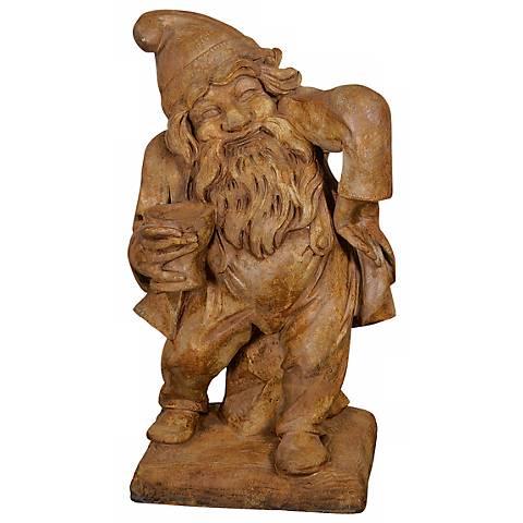 "Gnome of Merriment 24"" High Cast Stone Garden Accent"