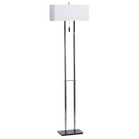 Emilio Double Tier Chrome Floor Lamp