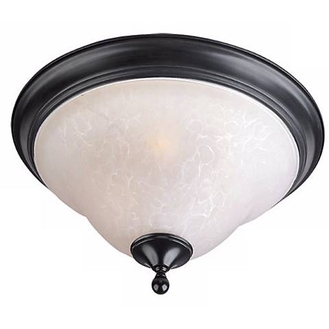 """Black and Ice 13"""" Wide Ceiling Light Fixture"""