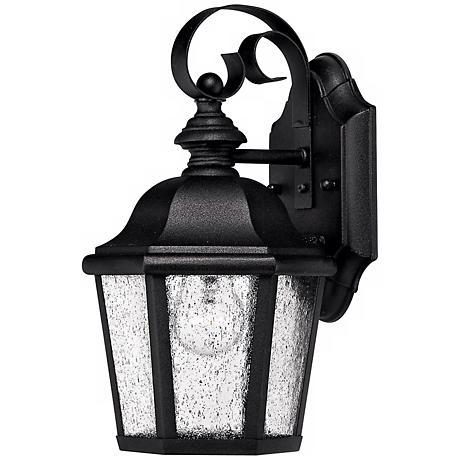 "Hinkley Edgewater Black 11"" High Outdoor Wall Light"