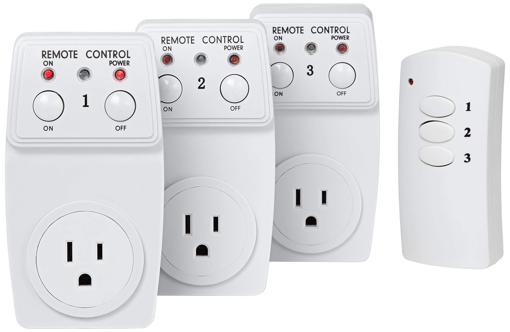 Captivating Casa EZ Control Three Outlet Wireless Remote