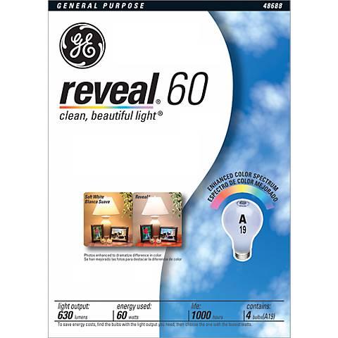 GE Reveal 4-Pack 60 Watt Light Bulbs