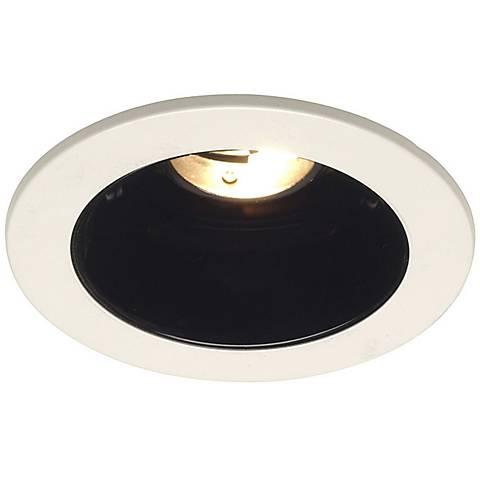 """Juno Bathroom Light Fixtures juno 4"""" low voltage black alzak recessed light trim - #29819"""