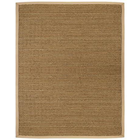 Saddleback Seagrass AMB0117 Tan Indoor-Outdoor Rug