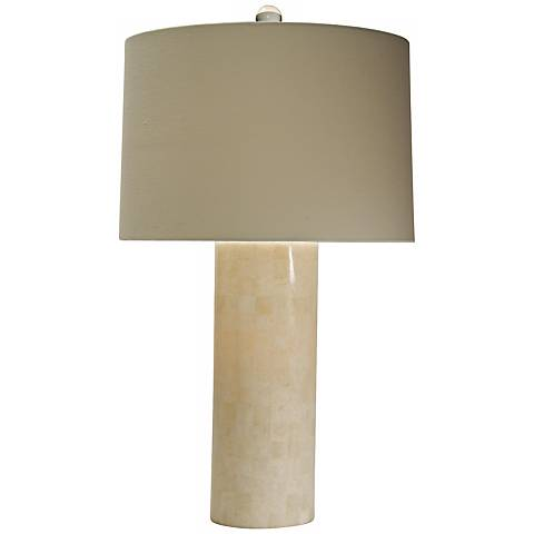 Natural Light Lucient Cylinder Stone Table Lamp