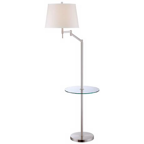 Lite Source Eveleen Floor Lamp with Tray Table