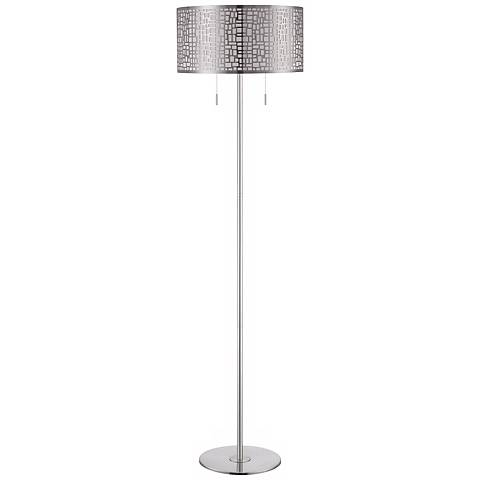 Lite Source Torre Floor Lamp with Laser Cut Metal Shade