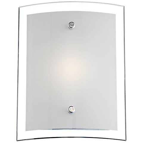 "Possini Euro Elmont 8 1/4"" High Chrome LED Wall Sconce"