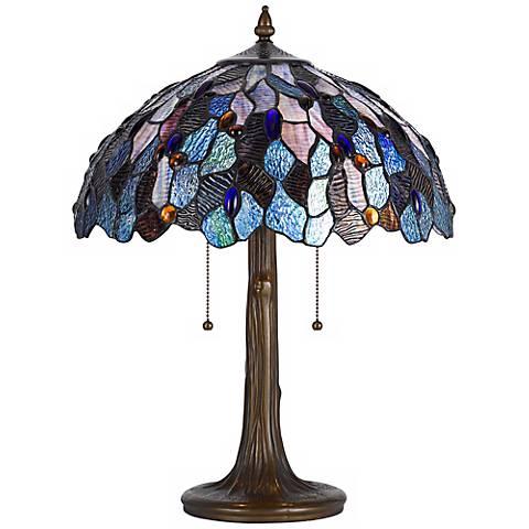 Fruit Tree Tiffany Style Dark Bronze Table Lamp W5975