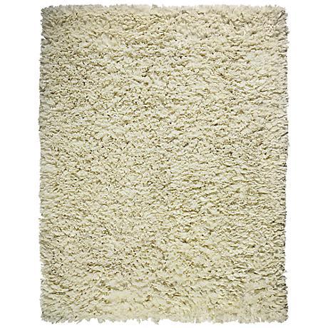 Creme Paper Shag AMB0451 Area Rug