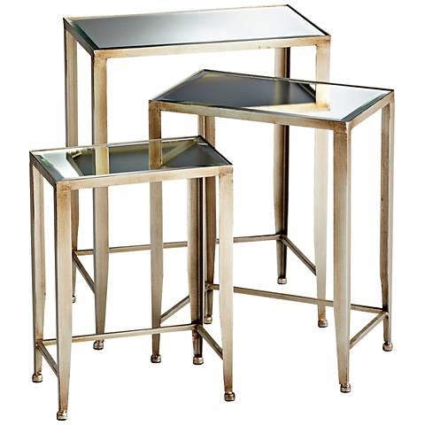 Set of 3 Harrow Bronze Nesting Tables