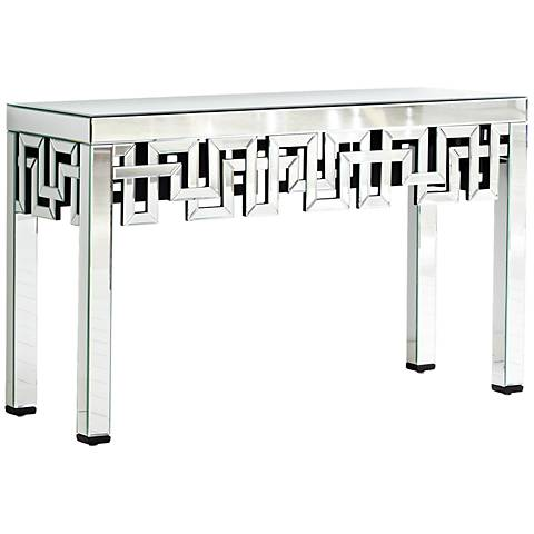 Psara Mirrored Console Table