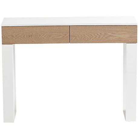 Lautner Grey and White Console Table