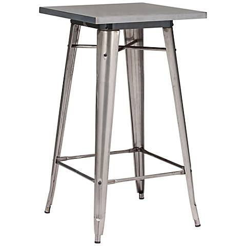 Zuo Olympia Gunmetal Bar Table