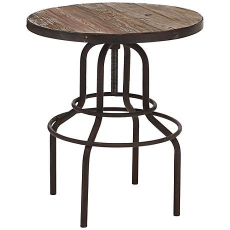 Zuo Twin Peaks Distressed Wood Bar Table