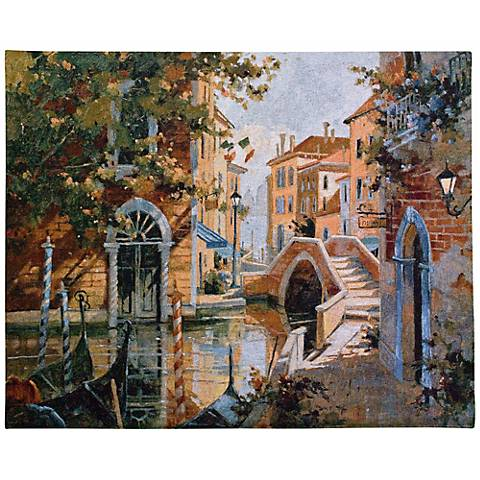 "Venice Canal 53"" Wide Wall Tapestry"