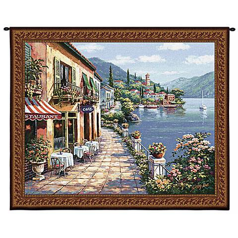 "Overlook Cafe I 53"" Wide Wall Tapestry"