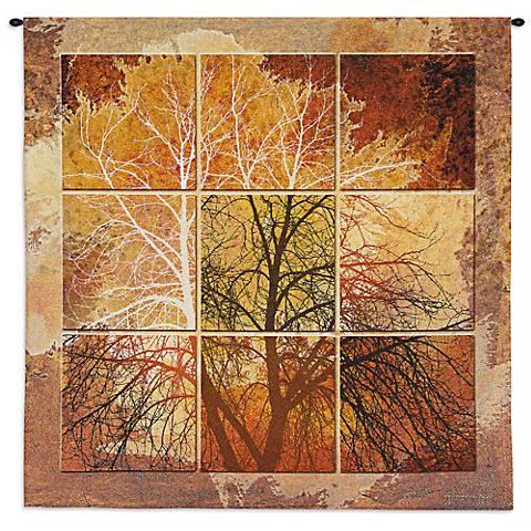 """October Light 55"""" High Wall Tapestry"""
