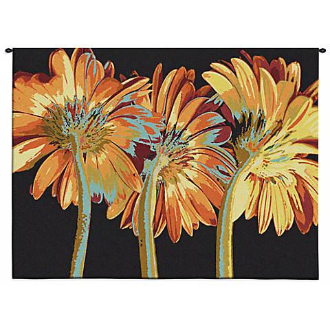 "Miami Blooms 53"" Wide Floral Wall Tapestry"