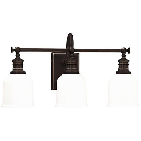 "Hudson Valley Keswick 21""W 3-Light Old Bronze Bath Light"