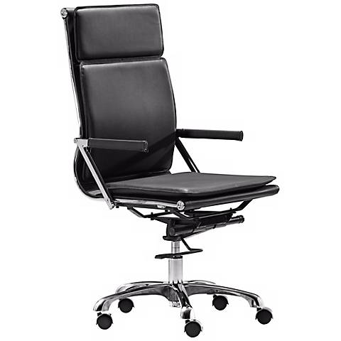 Zuo Lider Plus Black High Back Office Chair