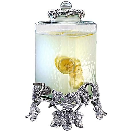 Arthur Court Grape Rippled Glass Beverage Server