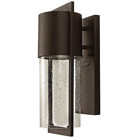 "Hinkley Shelter 15 1/2""H LED Bronze Outdoor Wall Light"
