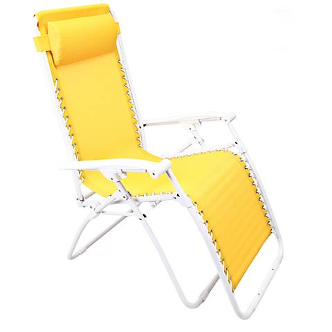 Zero Gravity Yellow Outdoor Chaise Lounge