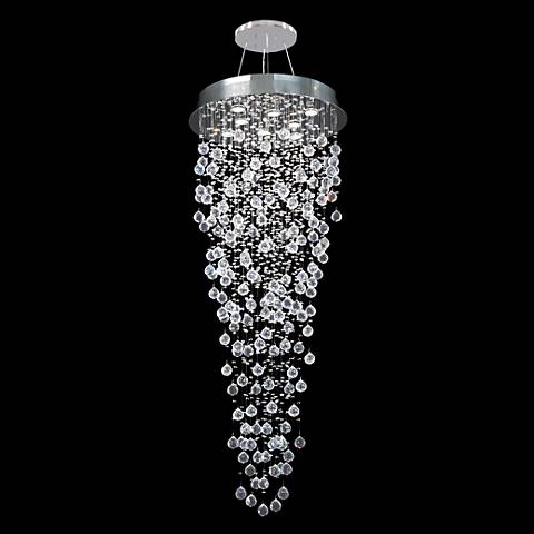 "James R. Moder Impact Crystal Rain 24"" Wide Chandelier"