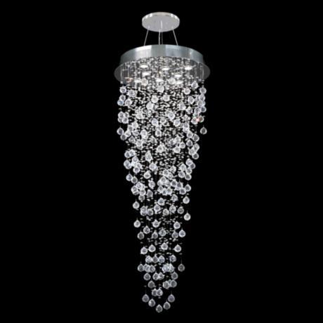 Moder Impact Crystal Rain 24 Wide Chandelier 2F723 Lamps Plus