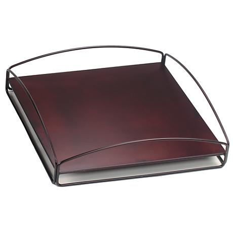 Howard Elliott Mahogany No-Tip Block Accessory Tray