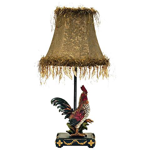 "Petite Rooster 19"" High Ainsworth Accent Table Lamp"