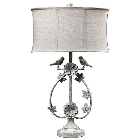 saint louis heights antique white table lamp 2f922. Black Bedroom Furniture Sets. Home Design Ideas