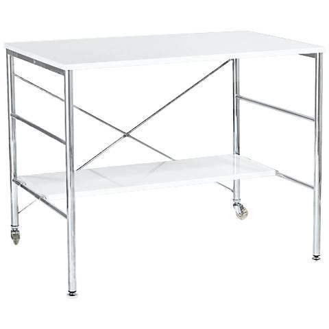 Ida Chrome Steel and White Desk