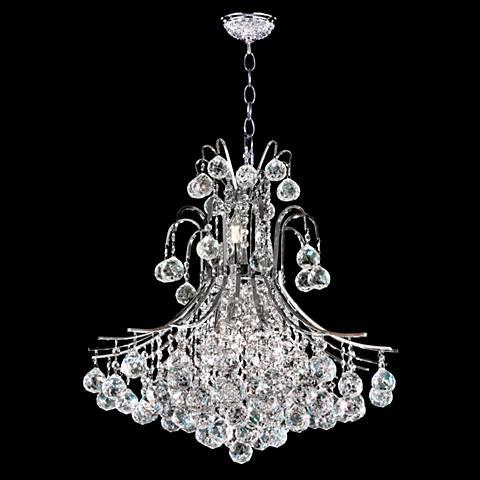 "James Moder Cascade 22"" Wide Silver Crystal Chandelier"