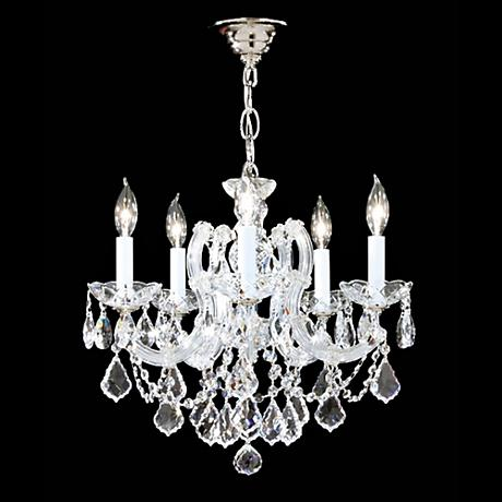 James Moder Impact Maria Teresa 5-Light Silver Chandelier