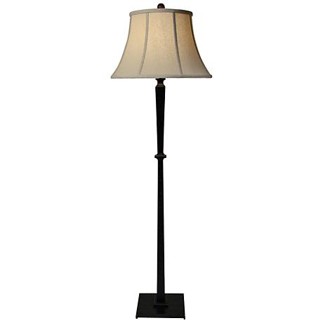 natural light round up floor lamp with hopsack bell shade 2g633. Black Bedroom Furniture Sets. Home Design Ideas