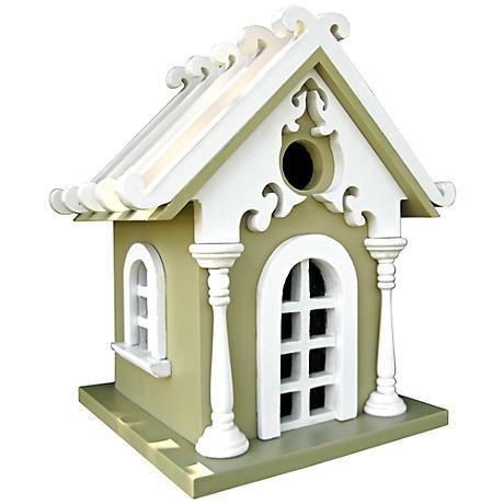 Sage Green Cottage Birdhouse